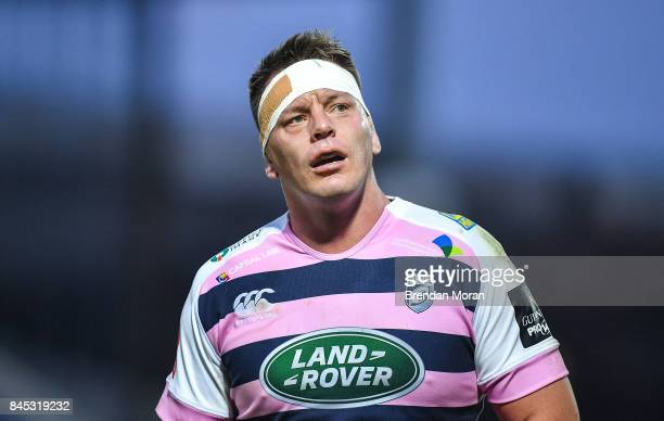 Dublin Ireland 8 September 2017 Matthew Rees of Cardiff during the Guinness PRO14 Round 2 match between Leinster and Cardiff Blues at the RDS Arena...