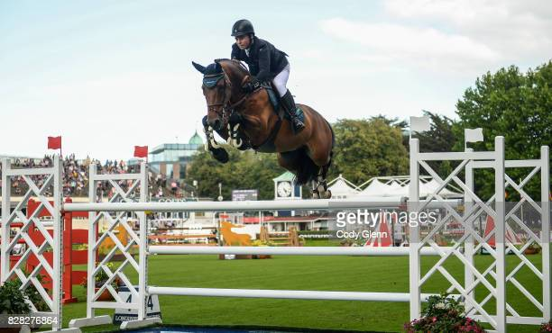Dublin Ireland 9 August 2017 Cian O'Connor of Ireland competing on Skyhorse during the Sport Ireland Classic at the Dublin Horse Show at the RDS in...