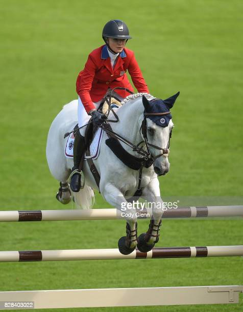 Dublin Ireland 9 August 2017 Lillie Keenan of USA competes on Fibonacci 17 during The Speed Stakes at the Dublin Horse Show at the RDS in Ballsbridge...