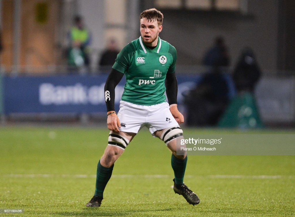 Dublin , Ireland - 9 February 2018; Ronan Foley of Ireland during the U20 Six Nations Rugby Championship match between Ireland and Italy at Donnybrook Stadium, in Dublin.