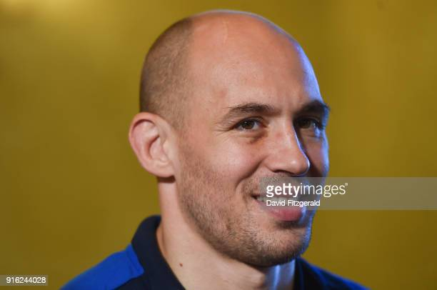 Dublin Ireland 9 February 2018 Sergio Parisse during the Italy Press Conference at the Radisson St Helen's Hotel in Stillorgan Dublin