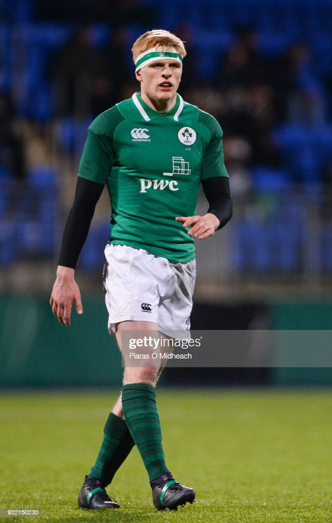 Dublin , Ireland - 9 February 2018; Tommy O'Brien of Ireland during the U20 Six Nations Rugby Championship match between Ireland and Italy at Donnybrook Stadium, in Dublin.