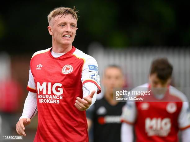 Dublin , Ireland - 9 July 2021; Chris Forrester of St Patrick's Athletic during the SSE Airtricity League Premier Division match between St Patrick's...