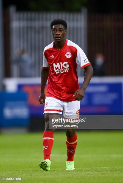 Dublin , Ireland - 9 July 2021; James Abankwah of St Patrick's Athletic during the SSE Airtricity League Premier Division match between St Patrick's...