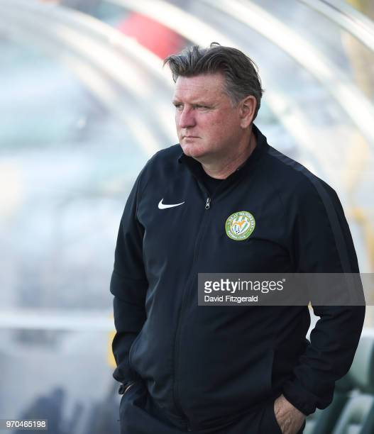 Dublin Ireland 9 June 2018 Bray Wanderers manager Martin Russell prior to the SSE Airtricity League Premier Division match between Shamrock Rovers...