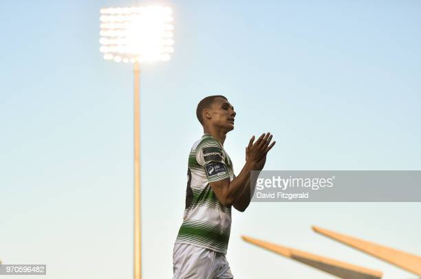 Dublin Ireland 9 June 2018 Graham Burke of Shamrock Rovers applauds supporters following the SSE Airtricity League Premier Division match between...