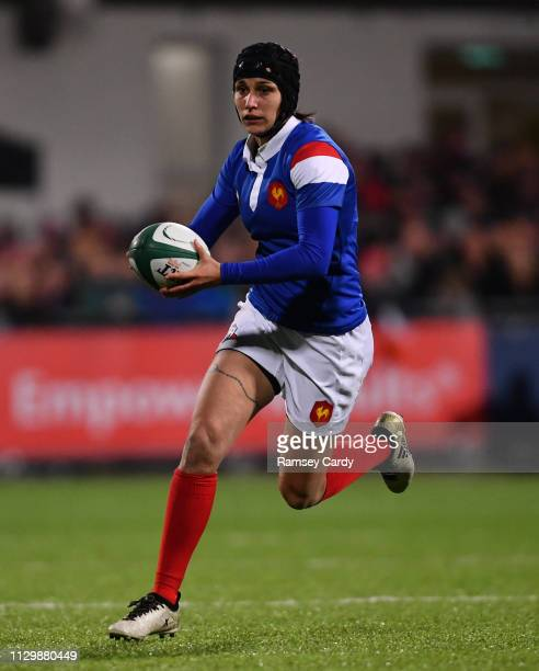 Dublin Ireland 9 March 2019 Caroline Boujard of France during the Women's Six Nations Rugby Championship match between Ireland and France at Energia...