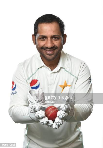 Dublin Ireland 9 May 2018 Sarfaraz Ahmed of Pakistan Pakistan Cricket Squad Portraits at Malahide Cricket Club in Dublin