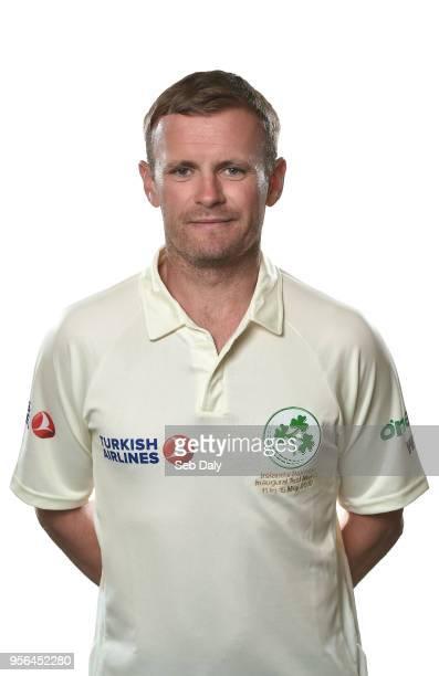 Dublin Ireland 9 May 2018 William Porterfield of Ireland Ireland Cricket Squad Portraits at Malahide Cricket Club in Dublin
