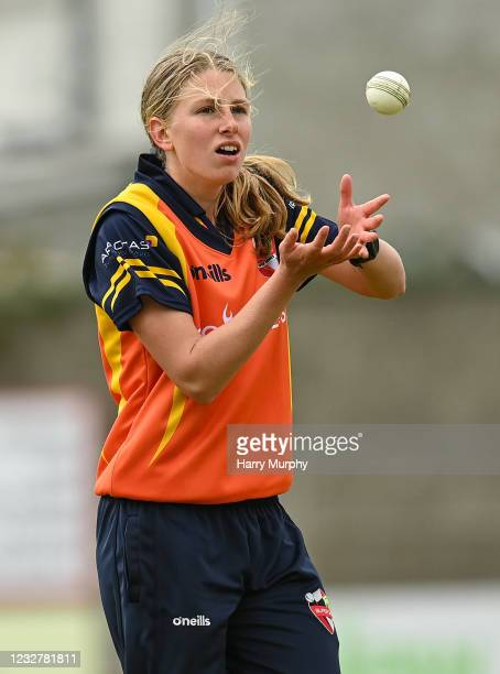 Dublin , Ireland - 9 May 2021; Ashlee King of Scorchers during the third match of the Arachas Super 50 Cup between Scorchers and Typhoons at Rush...
