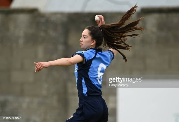Dublin , Ireland - 9 May 2021; Ava Canning of Typhoons during the third match of the Arachas Super 50 Cup between Scorchers and Typhoons at Rush...