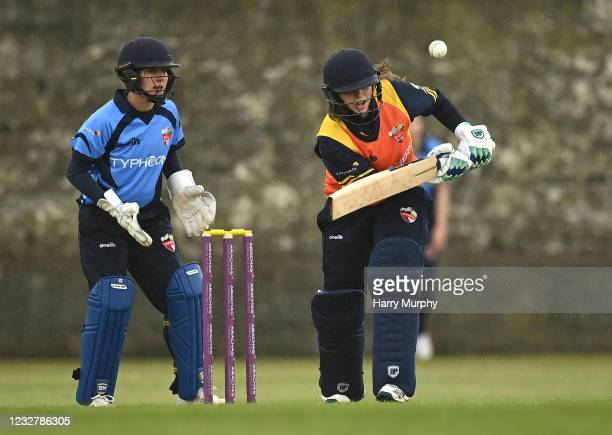 Dublin , Ireland - 9 May 2021; Cara Murray of Scorchers bats during the third match of the Arachas Super 50 Cup between Scorchers and Typhoons at...