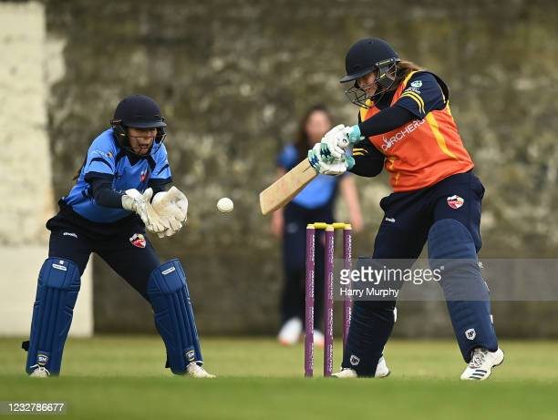 Dublin , Ireland - 9 May 2021; Cara Murray of Scorchers during the third match of the Arachas Super 50 Cup between Scorchers and Typhoons at Rush...