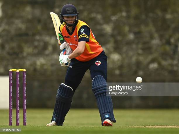 Dublin , Ireland - 9 May 2021; Gaby Lewis of Scorchers bats during the third match of the Arachas Super 50 Cup between Scorchers and Typhoons at Rush...