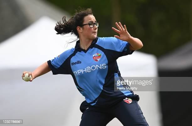 Dublin , Ireland - 9 May 2021; Jane Maguire of Typhoons during the third match of the Arachas Super 50 Cup between Scorchers and Typhoons at Rush...