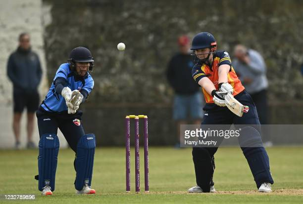 Dublin , Ireland - 9 May 2021; Jenny Sparrow of Scorchers bats during the third match of the Arachas Super 50 Cup between Scorchers and Typhoons at...