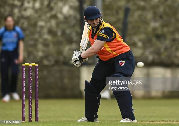 Dublin , Ireland - 9 May 2021; Jenny Sparrow of Scorchers during the third match of the Arachas Super 50 Cup between Scorchers and Typhoons at Rush...