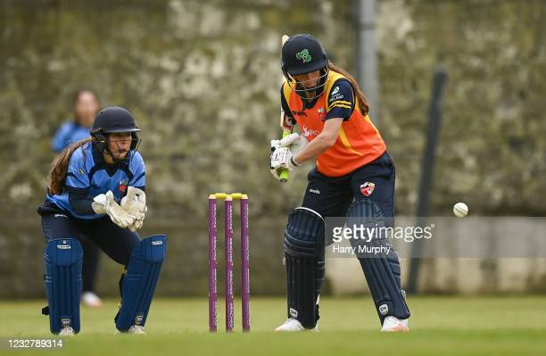 Dublin , Ireland - 9 May 2021; Lara Maritz of Scorchers bats during the third match of the Arachas Super 50 Cup between Scorchers and Typhoons at...