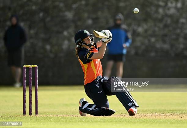 Dublin , Ireland - 9 May 2021; Lara Maritz of Scorchers during the third match of the Arachas Super 50 Cup between Scorchers and Typhoons at Rush...