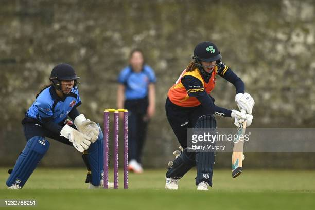 Dublin , Ireland - 9 May 2021; Sophie MacMahon of Scorchers bats during the third match of the Arachas Super 50 Cup between Scorchers and Typhoons at...