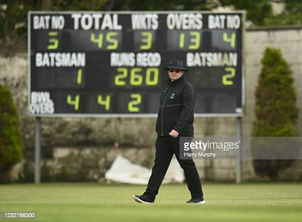 Dublin , Ireland - 9 May 2021; Umpire Steve Wood during the third match of the Arachas Super 50 Cup between Scorchers and Typhoons at Rush Cricket...