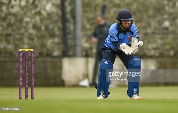 Dublin , Ireland - 9 May 2021; Wicketkeeper Amy Hunter of Typhoons during the third match of the Arachas Super 50 Cup between Scorchers and Typhoons...