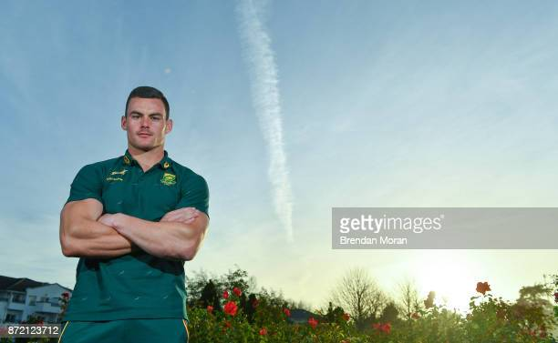 Dublin Ireland 9 November 2017 Jesse Kriel poses for a portrait after a South Africa Press Conference at Radisson Blu Hotel in Stillorgan Dublin