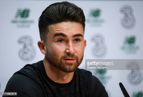 Dublin Ireland 9 October 2019 Sean Maguire during a Republic of Ireland press conference at the FAI National Training Centre in Abbotstown Dublin
