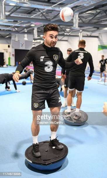 Dublin Ireland 9 October 2019 Sean Maguire during a Republic of Ireland gym session at FAI National Training Centre in Abbotstown Dublin