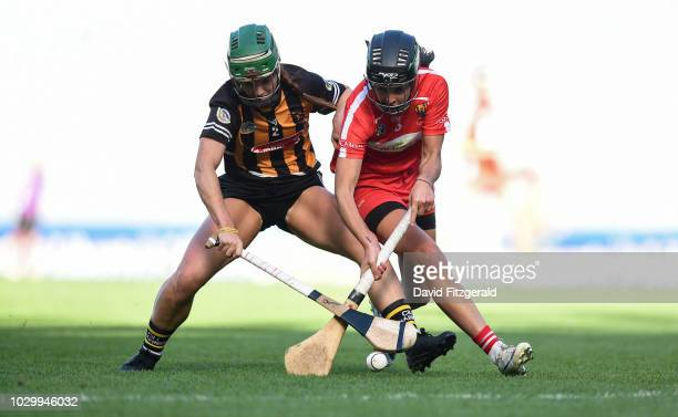 Dublin Ireland 9 September 2018 Julia White of Cork in action against Colette Dormer of Kilkenny during the Liberty Insurance AllIreland Senior...