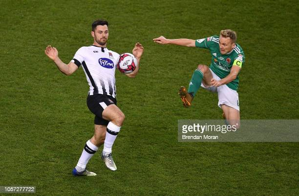 Dublin Ireland i4 November 2018 Conor McCormack of Cork City right in action against Patrick Hoban of Dundalk during the Irish Daily Mail FAI Cup...