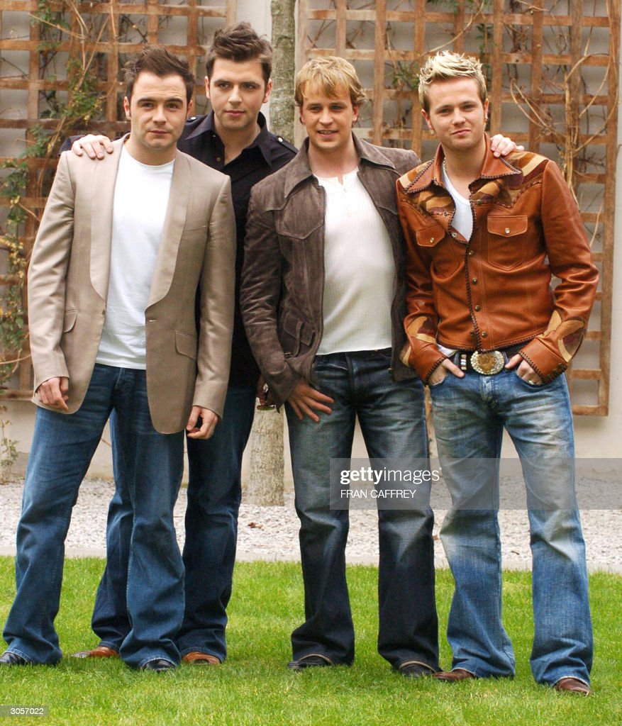 Westlife band members (L-R) Shane Filan, : News Photo