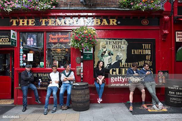 Dublin pub scene.