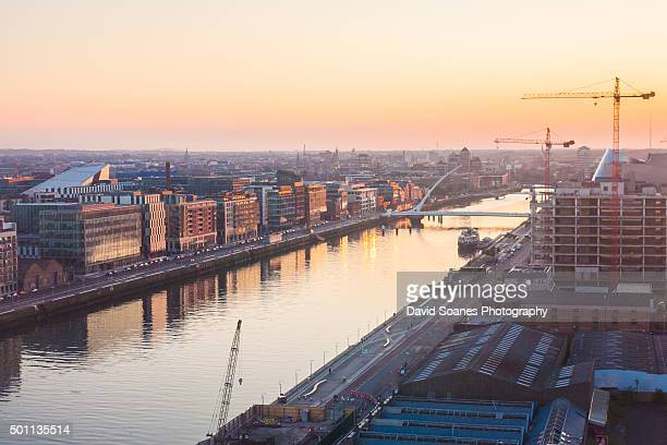 Dublin Skyline at sunset