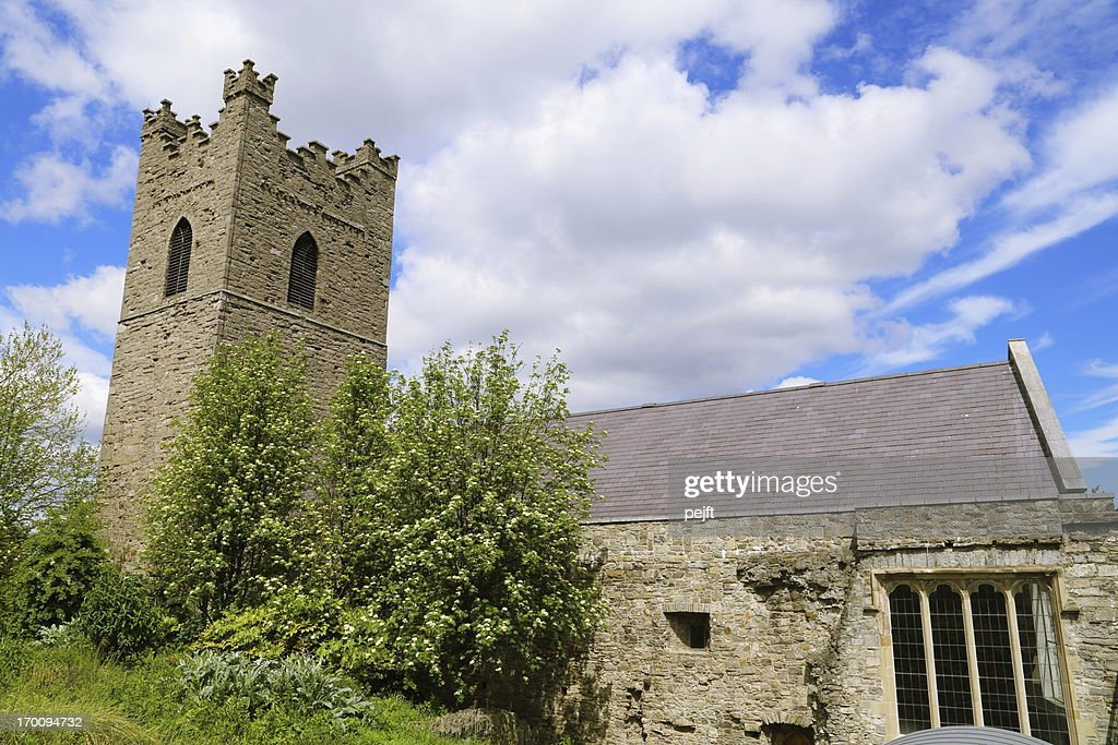 Dublin - St. Audoen's parish church : Stock Photo
