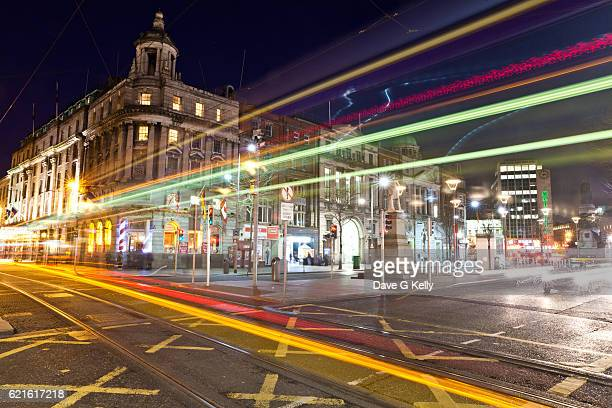 Dublin Street Tram Long Exposure