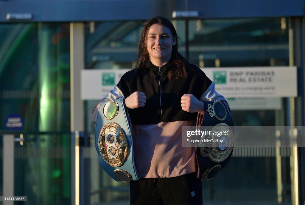 IRL: WBA, IBF & WBO Female Lightweight World Champion Katie Taylor arrival at Dublin Airport