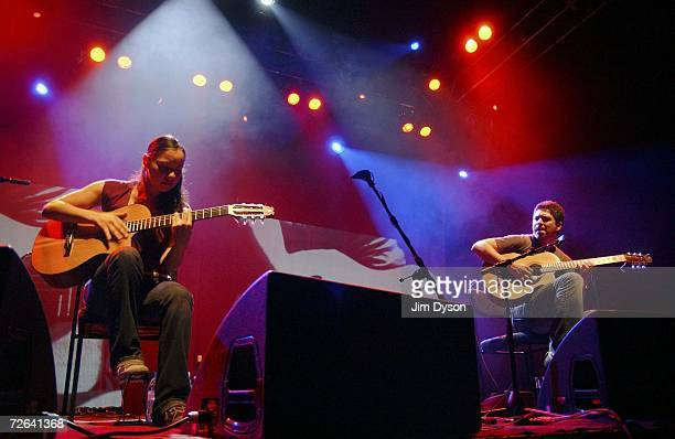 Dublinbased Mexican acoustic guitarists Rodrigo Sanchez and Gabriela Quintero Rodrigo y Gabriela perform at the Shepherds Bush Empire in support of...