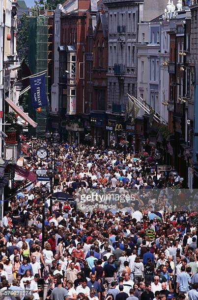 Dublin's Grafton Street Packed with People