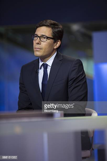 Dubravko LakosBujas head of US equity strategy at JPMorgan Chase Co listens during a Bloomberg Television interview in New York US on Wednesday Aug...