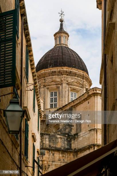 dubrovnik cathedral (assumption of the virgin) - terence waeland stock pictures, royalty-free photos & images