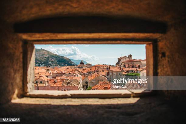 dubrovnik, croatia - fortified wall stock pictures, royalty-free photos & images