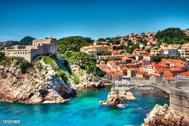 dubrovnik harbor - croatia stock pictures, royalty-free photos & images