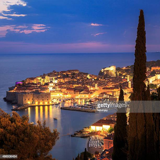 Dubrovnik in Croatia at night