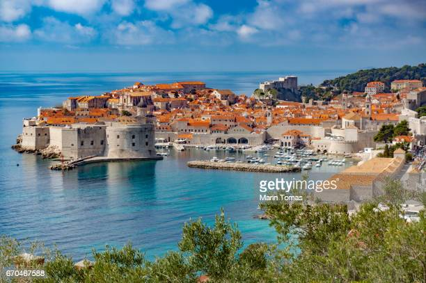 dubrovnik - fortified wall stock photos and pictures