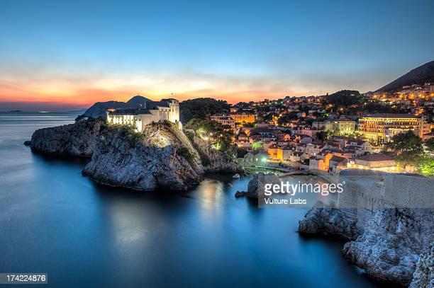 dubrovnik sunset, croatia - ドブロブニク ストックフォトと画像