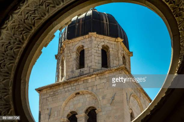 dubrovnik's clock tower , croatia - limestone pavement stock pictures, royalty-free photos & images
