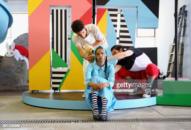 Dubs Yunupingu who plays Alice performs during rehearsals for Alice in Wonderland on December 13 2017 in Sydney Australia