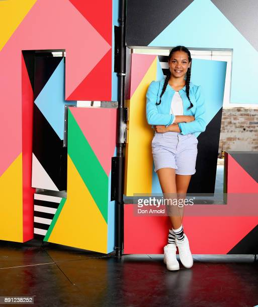 Dubs Yunupingu who plays Alice poses during rehearsals for Alice in Wonderland on December 13 2017 in Sydney Australia