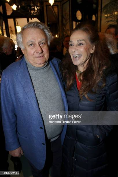 Duc de Noailles and guest attend the 83rd Prix Cazes de la Brasserie Lipp Literary Prize at Brasserie Lipp on March 22 2018 in Paris France
